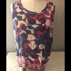 Simply vera vera weighing colorful tank top Sz L